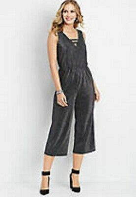 Maurices~New With Tags~Black V-Neck Shimmer Jumpsuit~Size XL or Plus Size 0X