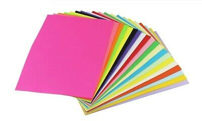 100 Sheets A4 Coloured Card Bright Pastel Colours 160gsm Laser Inkjet Printers