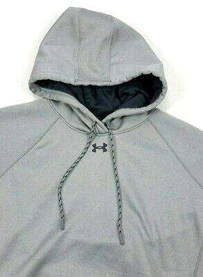 2db885d6f614 Under Armour UA Womens Double Threat Heather Gray Fleece Hoodie Large Loose