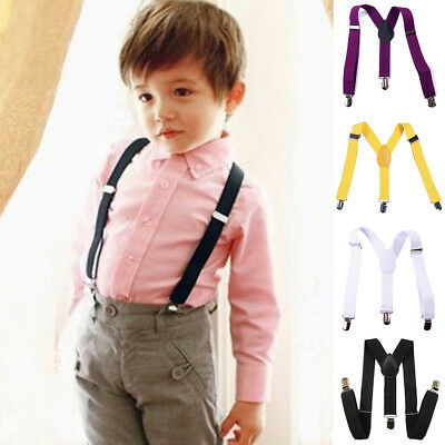 BL_ New Children Kids Boy Girls Clip-on Suspenders Elastic Adjustable Braces Eag