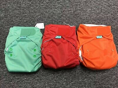 Tots Bots Easyfit All-in-One Cloth Diapers 3pk NEW