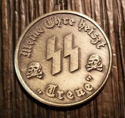 WW2 WWII German coin SS Elite Kampft Weiter 1 Schilling Kantine bar money