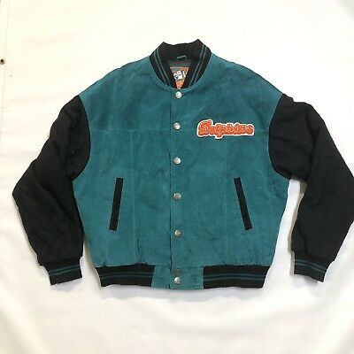 Miami Dolphins Jacket NFL Vintage G-III by Carl Banks Men Suede Leather  Large XL 4714e879e