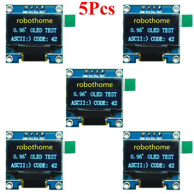 5Pcs 0.96in IIC Serial 128X64 Yellow Blue OLED LCD LED Display Module SSD1306