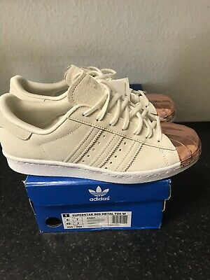 best sneakers 219a3 7c92f ADIDAS SUPERSTAR 80'S WITH ROSE GOLD METAL TOE CAP ,Size Uk 7