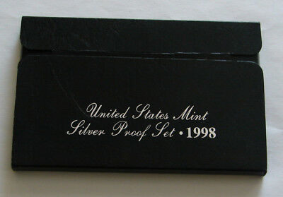 1998 - United States Mint Silver Proof Set - With Box And Coa - Free Shipping