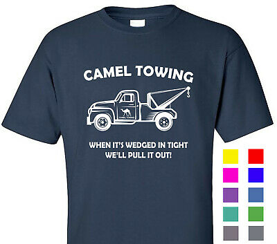 011b4fd41 Camel Towing Funny T Shirt Adult Novelty Humor Gift Graphic Tee Cotton