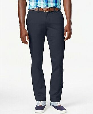 promo codes autumn shoes new specials $160 TOMMY HILFIGER 30W X 30L Men's BLUE SLIM FIT FLAT FRONT CHINO ...