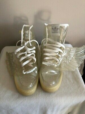 best loved f26a5 284db JEREMY SCOTT CLEAR PLASTIC ADIDAS WINGS size 11 (RARE)