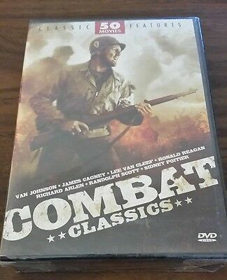 Combat Classics  50 Movie Pack FACTORY SEALED DVD FREE SHIPPING AND TRACKING!!