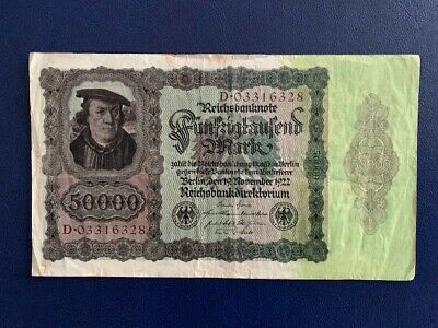 Germany - 50 000 Mark 1922 -   Fine-Large Banknote