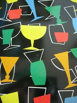 Retro Kitsch COCKTAIL Serving TRAY MARTINI Bar WORCESTER WARE England 1950's