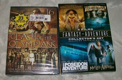 Clash of the Olympians 4 Disc Set & 4 Films Fantasy - Adventure Collector's Set