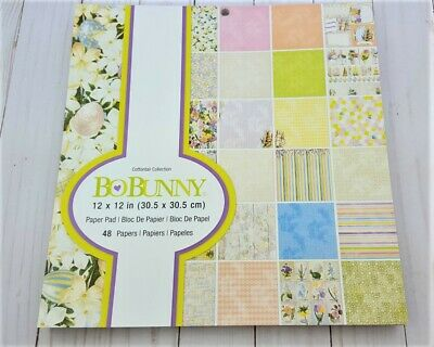 "Bobunny Cottontail 12"" x 12"" Paper Pad Easter Vintag,Craft Supplies,Scrapbooking"