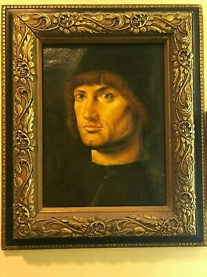 Oil Painting Of Renaissance Italian Man Made To Look Like An
