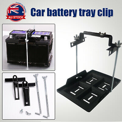 295x 200mm Universal Car Battery Tray Hold Down Clamp Adjustable 135-220mm O