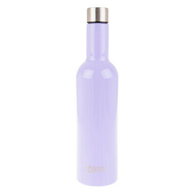 Oasis 750ml Stainless Steel Double Wall Insulated Wine Traveller Bottle Chiller
