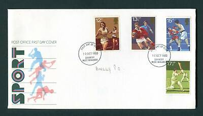 1980 GB FDC. Sport Centenaries. Coventry First Day Cover. SG 1134-1137