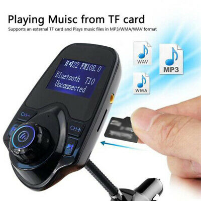 Car FM Transmitter Bluetooth/Adapter For Mobile Phone Hands-free Kit MP3 AUX
