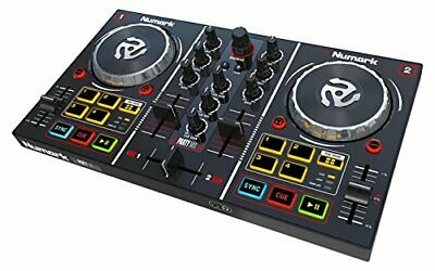 Numark Party Mix DJ Controller with Built In Light Show LED Mirror Ball