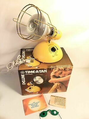 GE Deluxe Time A Tan SunTanner Lamp Vintage 1984 Model RSK6A Made In USA