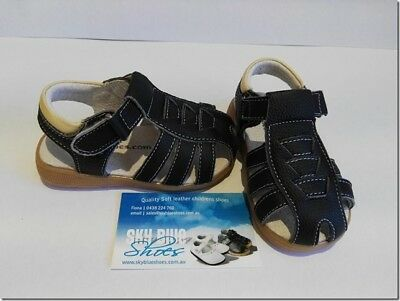Boys Leather Sandals Black for Toddler Kids Children for age 1 - 6 years