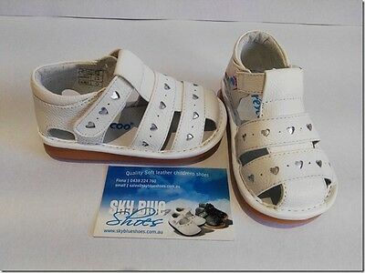 Girls Leather Sandals White  for Toddler Kids Children for age 1 - 5 years