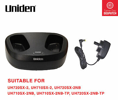 Uniden Dt720-2 Twin Desktop Charger For Uh720Sx & Uh710 Model Hand Held Radio