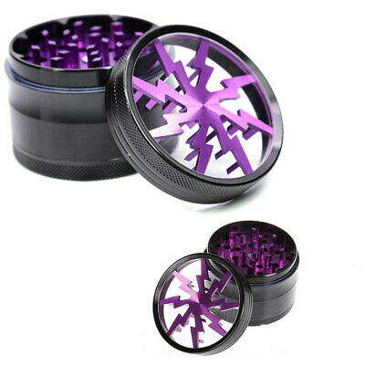 4Layer Herb Grinder Spice Tobacco/Weed Smoke Crusher Leaf Design Aluminium Alloy
