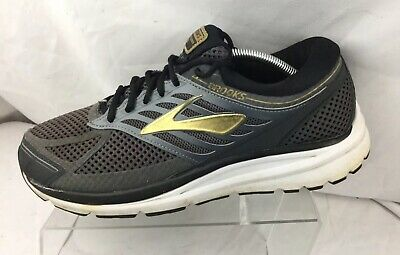 8d558bdc9f9 Brooks Addiction 13 Running Shoes Men s Sz 11.5 4E EXTRA WIDE Black Grey  Gold