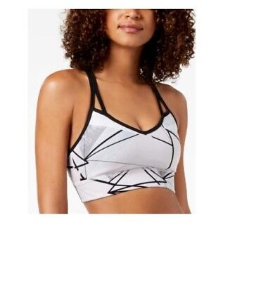 0af3c772ff Calvin Klein Performance Printed Low-Impact Sports Bra Nirvana Combo Size L  NWT