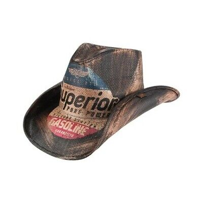 f6713e378e487 PETER GRIMM UNISEX Petrol Cowboy Hat Dark Brown Size One Size (21 ...