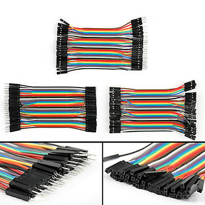 FT- 40Pcs 10cm M-M M-F F-F Dupont Wires Jumper Cables for Arduino Breadboard New