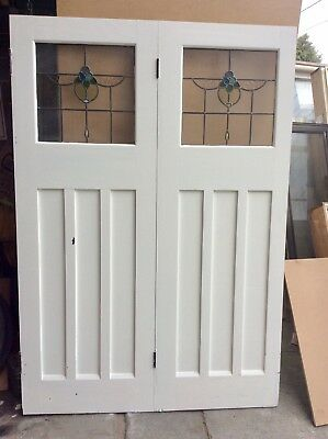 Leadlight Bi Fold Double  Door Set