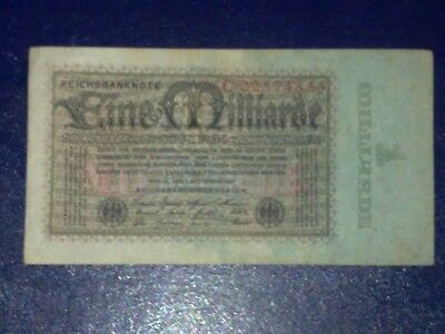 Germany - 1 Billion  Mark  Banknote 1923- Berlin-Inflation - Very Fine