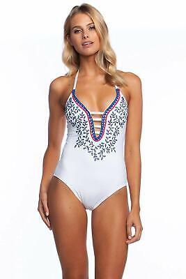 301ff713b81 LA BLANCA EDEN One-Piece White Embroidered Swimsuit Size 12 NWTs ...