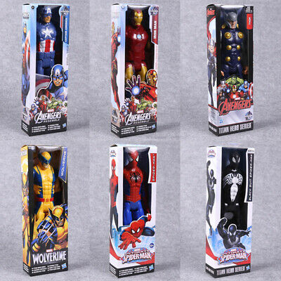Marvel Avengers Assemble 12 Inch Action Figures Titan Hero Spider-man Series Toy