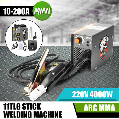 220V 4000W Handheld Mini MMA Electric Stick Welder 10-200A Inverter ARC Welding