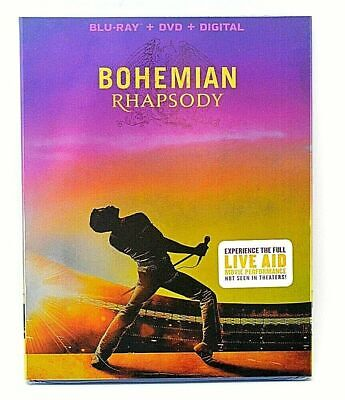 Bohemian Rhapsody (2019: Blu-Ray+DVD+Digital + SlipCover) NEW FREE SHIPPING