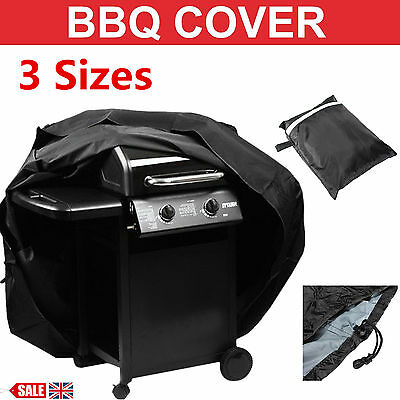 Large BBQ Cover Heavy Duty Waterproof Medium Barbecue Grill Outdoor Protector UK
