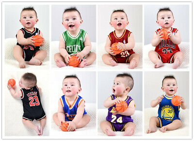 🇦🇺 Baby basketball jersey Infant Romper Jumpsuit Jersey bulls laker celtics