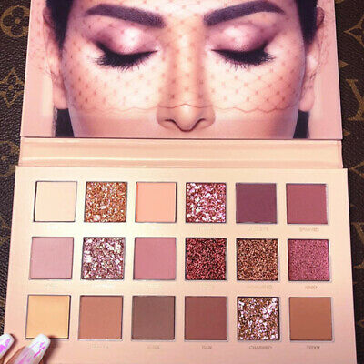 New HUDA BEAUTY Rose Gold Edition Textured Eye Shadow Palette 18 Colours J8Ib