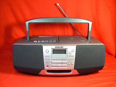 SONY CFD-S28L Portable CD AM/FM Radio Cassette Recorder RETRO BOOM BOX Works GC