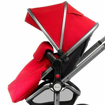 Silver Cross Wayfarer Pioneer Pram Surf Hood And Apron Set Chilli Red New