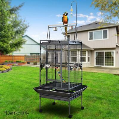 New Pet Bird Cage Large Aviary Parrot Budgie Cockatiel Finch Toys Perch Black