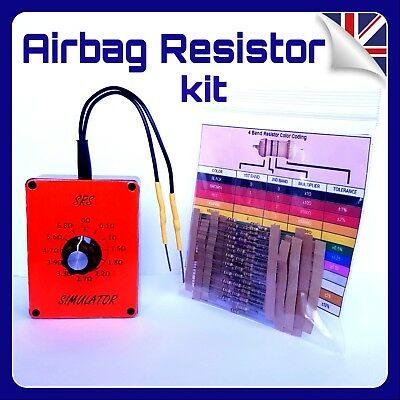 AIRBAG RESISTOR TOOL + 100 bypass Resistors All Makes car hgv coach light reset