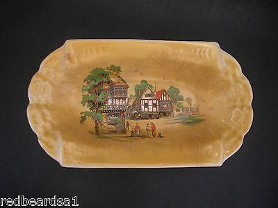 LANCASTERS HANLEY Vintage Art Deco English CHINA DISH Tray c1930s SOMERSET WAY