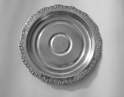 Vintage RENOWN EPNS SILVER PLATE Butlers Serving TRAY SALVER Grapevine 27cm