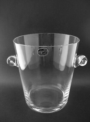 Vintage Crystalex BOHEMIA CRYSTAL GLASS ICE BUCKET for Bar Czechoslovakia H15cm