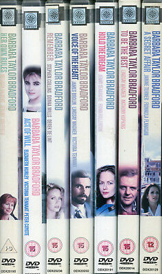 7 x Barbara Taylor Bradford DVDs inc A Secret Affair, Remember, Act Of Will   VG